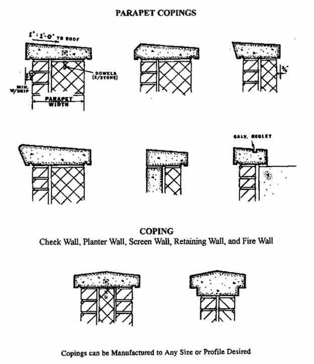 Seaboard Concrete Design Details Copings